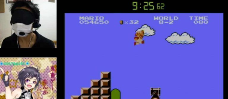 Blindfolded Gamer Beats Super Mario Bros. In Under 15 Minutes